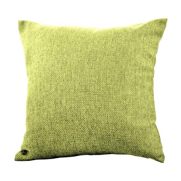 Barkweave Square Cushion Green undefined