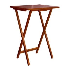 Rubberwood Dark Wood TV Table