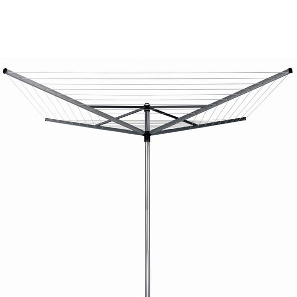 Brabantia 50 Metre 4 Arm Top Spinner Rotary Washing Line Grey