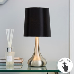 Rimini Black Touch Dimmable Lamp