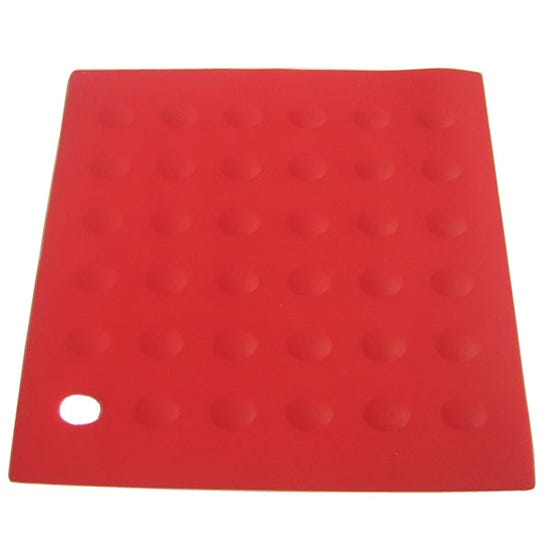 Red Silicone Trivet Red
