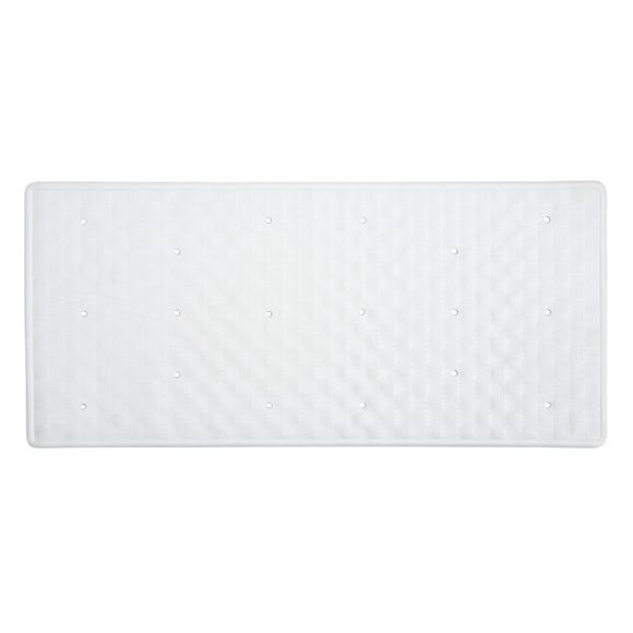 White Rubber Bath Mat  undefined