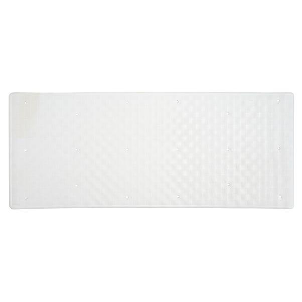 White Rubber Bath Mat  undefined