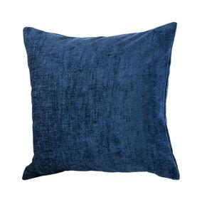 Chenille Navy Cushion