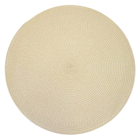 Set of 4 Round Woven Placemats Natural