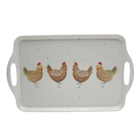 Henrietta Melamine Handled Tea Tray