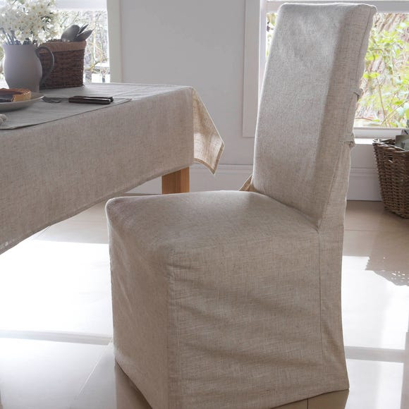 Polylinen Pack of 2 Chair Covers Natural