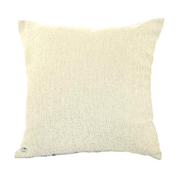 Barkweave Square Cushion Natural (Cream) undefined