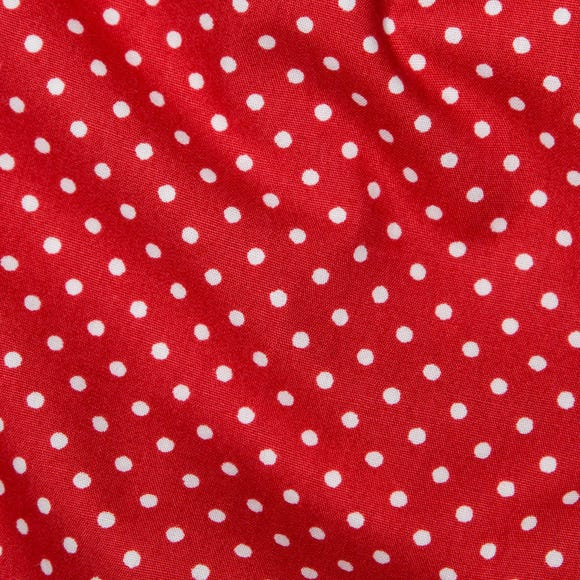 Red Polka Dots Cotton Poplin