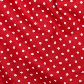 Red Polka Dots Cotton Poplin