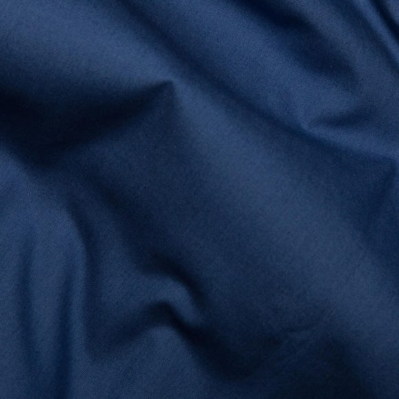 Navy Plain Cotton Poplin