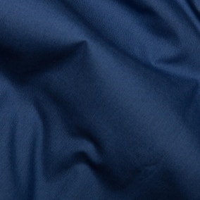 Navy Plain Cotton Poplin