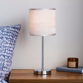 Ripple Chrome Table Lamp
