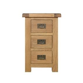 Aylesbury Oak Wide 3 Drawer Bedside Table