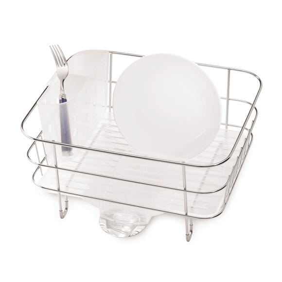 simplehuman Stainless Steel Compact Dishrack Silver