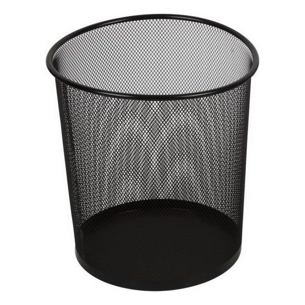 Storeaway Black Mesh Waste Paper Bin Black