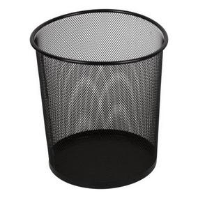 Storeaway Black Mesh Waste Paper Bin