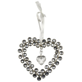 Sparkle Hanging Jewelled Heart
