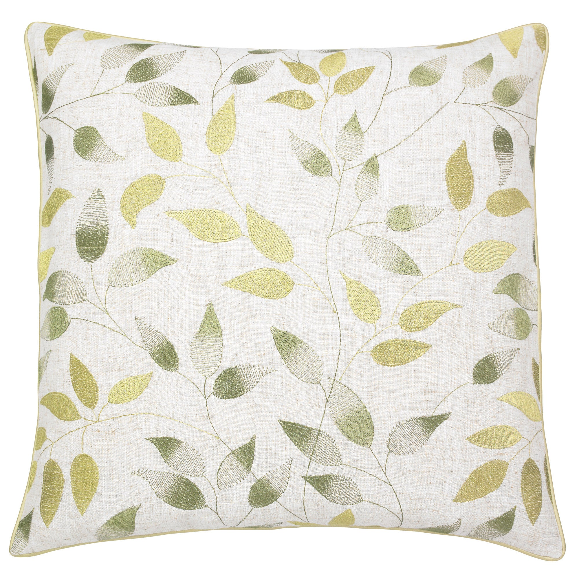 Click to view product details and reviews for Shadow Leaves Cushion Green.