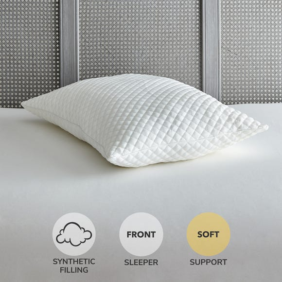 Huggable Soft-Support Pillow White