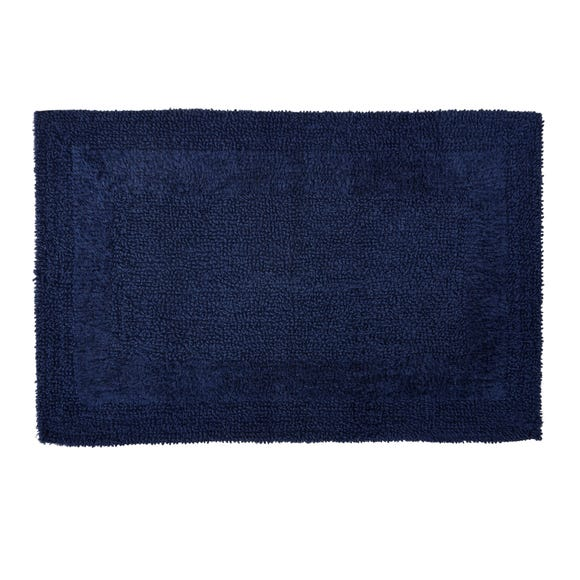 Super Soft Reversible Navy Bath Mat