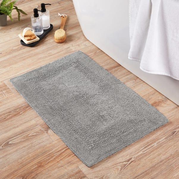 Super Soft Reversible Silver Bath Mat