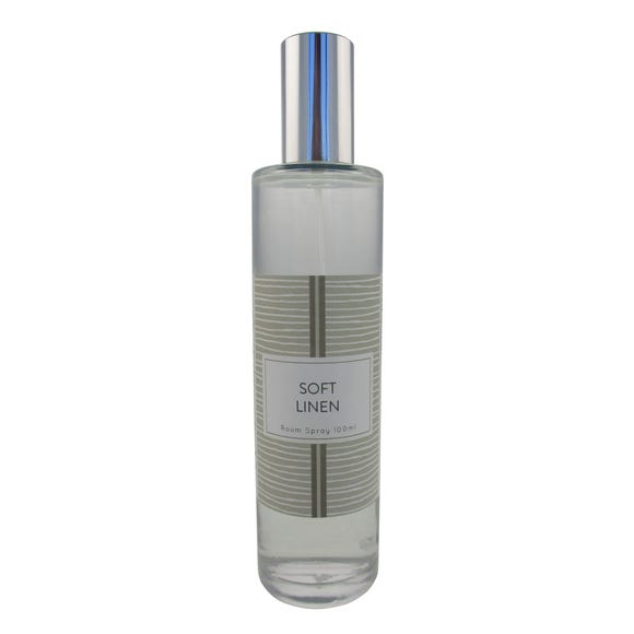 Home Fragrance Soft Linen and Lace 100ml Room Spray Clear