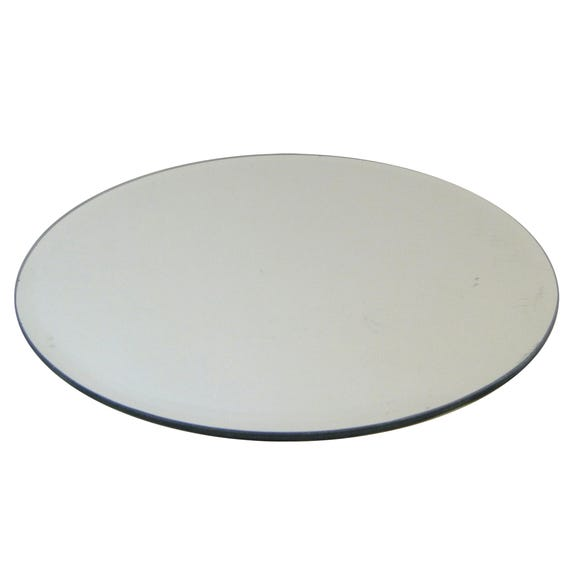 Home Fragrance Round Mirror Candle Plate Clear