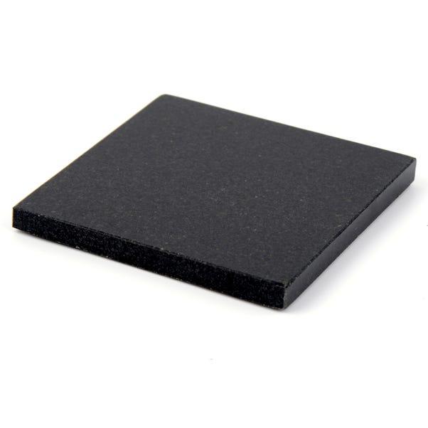 Black Granite Set of 4 Coasters Black