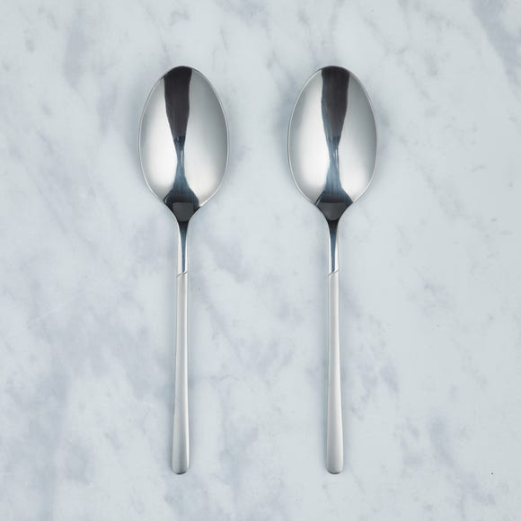 Alderley Pair of Serving Spoons Silver