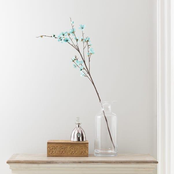 Artificial Blossom Flower Single Spray 90cm Duck Egg (Blue)