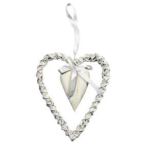 Vintage Wicker Hanging Heart