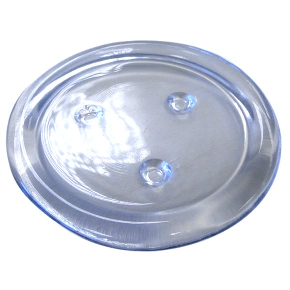 Glass Candle Plate Clear