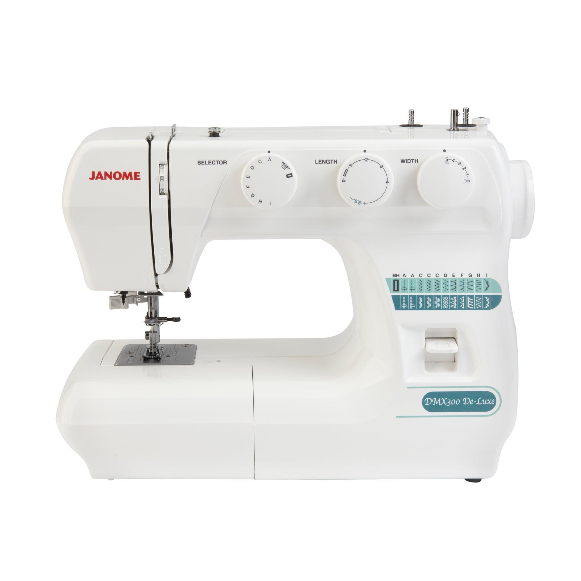 Janome DMX300 Deluxe Sewing Machine White