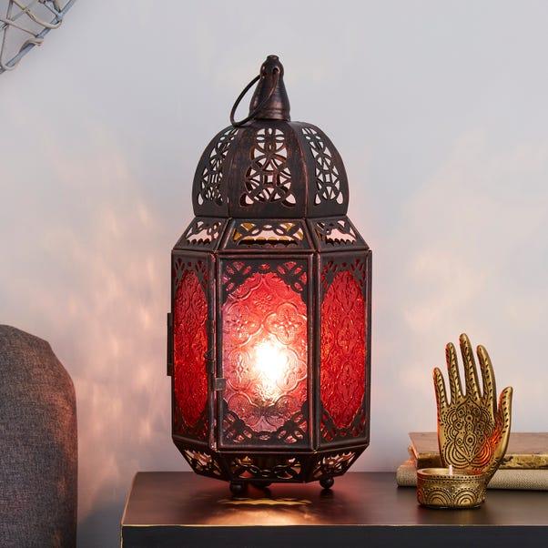 Marrakech Lantern Black Table Lamp Black