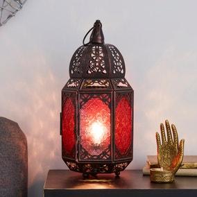Marrakech Lantern Black Table Lamp
