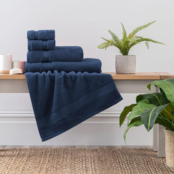 Navy Egyptian Cotton Towel  undefined