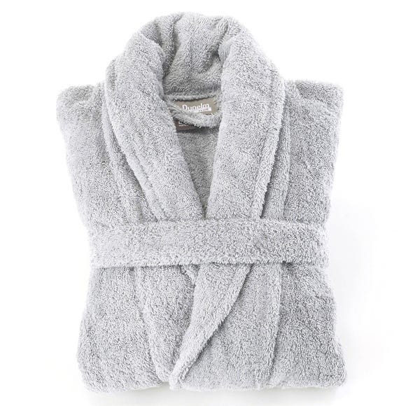 Egyptian Cotton Silver Dressing Gown  undefined