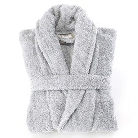 Egyptian Cotton Silver Dressing Gown