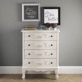 Toulouse Ivory Wide 4 Drawer Chest