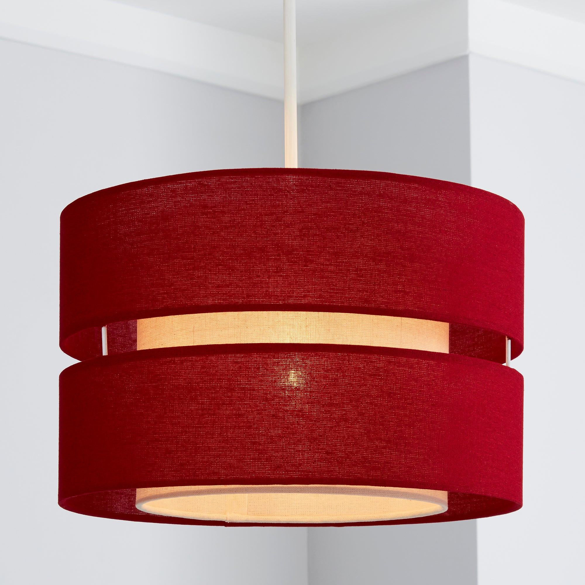 Click to view product details and reviews for Frea Shade 30cm Drum Red Shade Red.