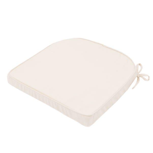 Cream Drill Foam Seat Pad Cream