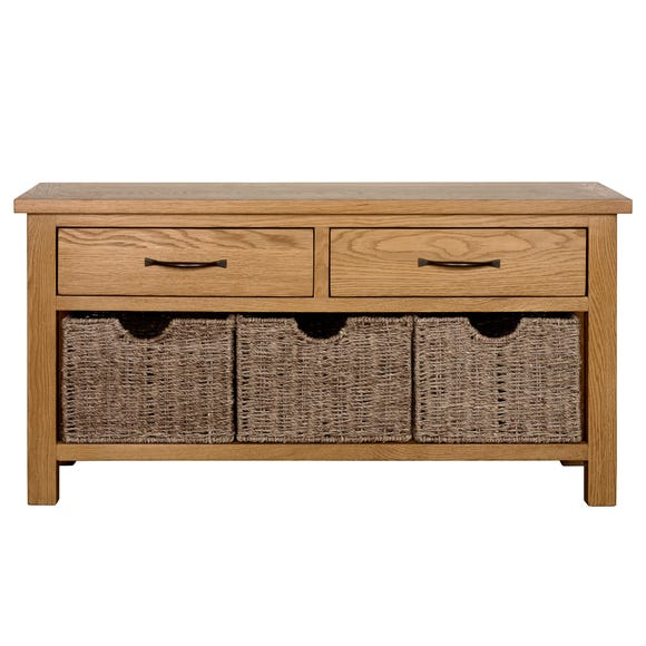 Sidmouth Oak Effect Storage Bench Oak (Brown)