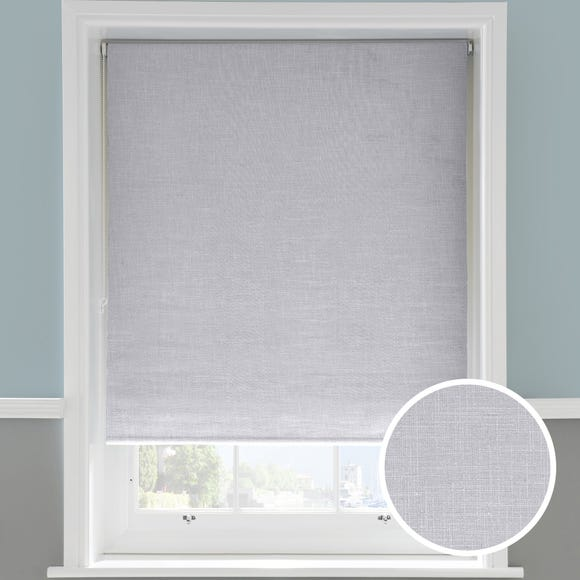 Linen Grey Roller Blackout Blind  undefined