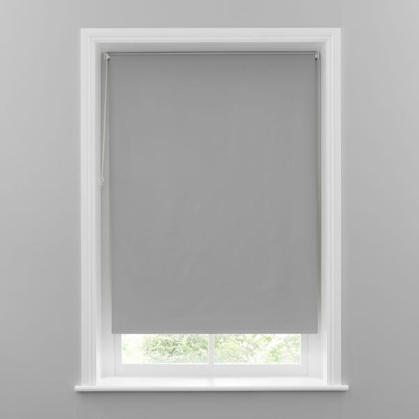 Grey Herringbone Blackout Roller Blind  undefined
