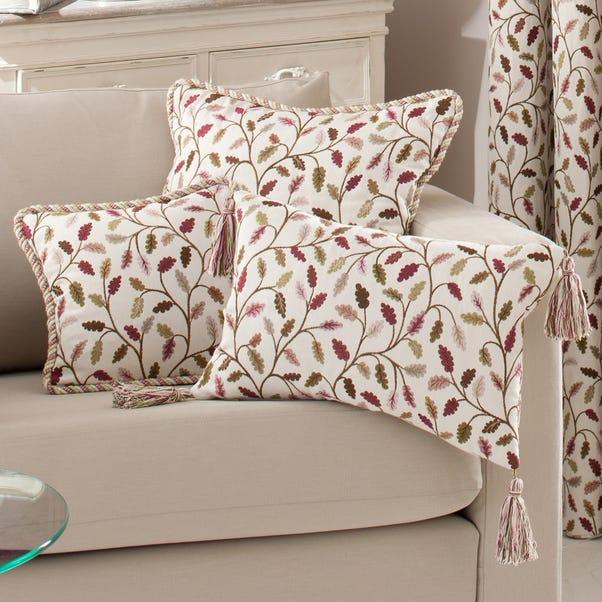 Heritage Glava Damson Oblong Filled Cushion Damson (Purple)