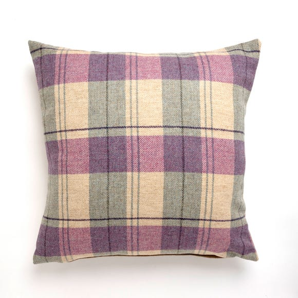 Tweed Woven Cushion Mauve undefined
