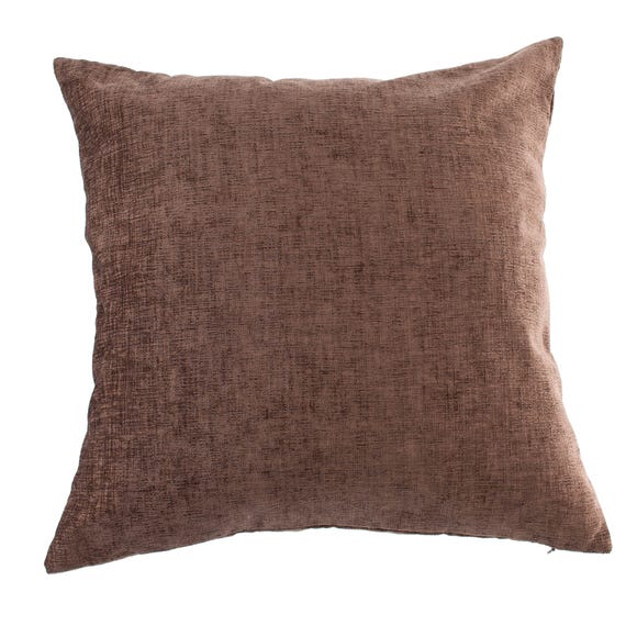 Chenille Cushion Chocolate (Brown) undefined