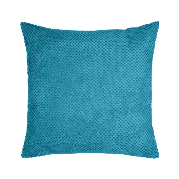 Chenille Spot Cushion Teal (Blue) undefined