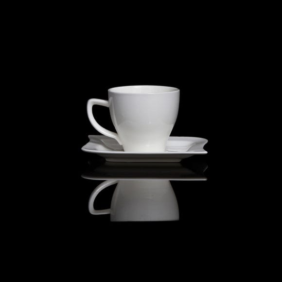 Chelsea Cup and Saucer White
